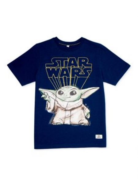Star Wars Boys exklusives 4-18 Baby Yoda Sketch Grafik-T-Shirt